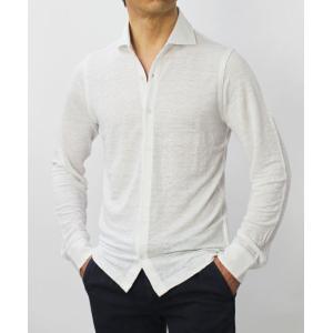 ジョルディーズ / JEORDIE'S / リネン ジャージー セミワイドカラー シャツ / セール / 返品・交換不可|luccicare|02