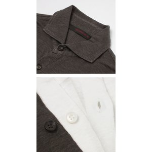 ジョルディーズ / JEORDIE'S / リネン ジャージー セミワイドカラー シャツ / セール / 返品・交換不可|luccicare|06