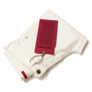 レッドカード / RED CARD / Rhythm / Slim Tapered / ストレッチ ホワイト デニム パンツ / 返品・交換可能|luccicare