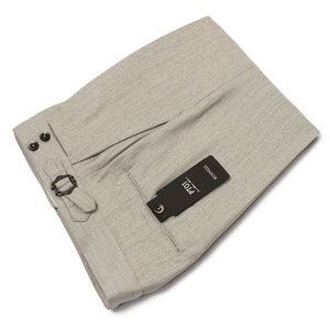 PT01 / EVO FIT / SUPER110'S / サキソニー ミニへリンボン インプリーツ ベルトレス パンツ|luccicare