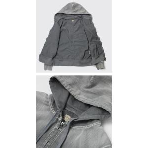 ヤヌーク / YANUK / HOODIE / 一重織り デニット フーデット パーカー|luccicare|05