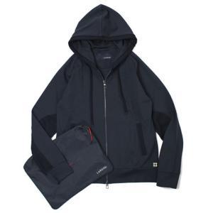 ラルディーニ / LARDINI / easy wear / パッカブル ナイロン レーヨン ジャージィ フーデット パーカー|luccicare