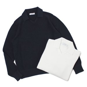 クルチアーニ / Cruciani / コットン ミドルゲージ 襟付き ニット / セール / 返品・交換不可|luccicare