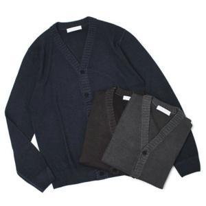 クルチアーニ / Cruciani / ウール 編み地切り替え Vネック カーディガン|luccicare