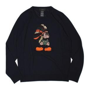 エル エディション / L'EDITION / Mickey ビーズ刺繍 ウール クルーネック ニット / セール / 返品・交換不可 luccicare