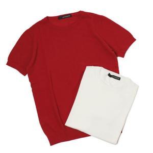 ジョルディーズ / JEORDIE'S / コットン アイスクレープ クルーネック 半袖 ニット Tシャツ / 返品・交換可能|luccicare