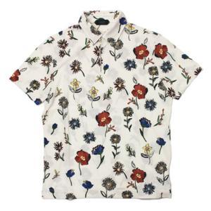 ザノーネ / ZANONE / ice piquet / コットン アイスピケ フラワープリント 半袖 ポロシャツ|luccicare