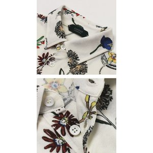 ザノーネ / ZANONE / ice piquet / コットン アイスピケ フラワープリント 半袖 ポロシャツ / 返品・交換可能|luccicare|05