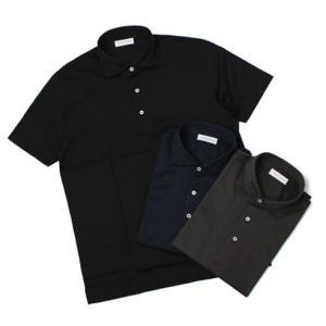 【国内正規品】S/S 新作 GRANSASSO ( グランサッソ ) / マーセライズ コットン シルケット加工 NEW ポロシャツ|luccicare