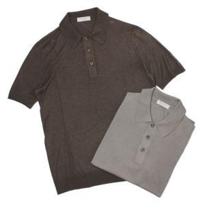 グランサッソ / GRANSASSO / 18G シルク100% ニット ポロシャツ / セール / 返品・交換不可|luccicare