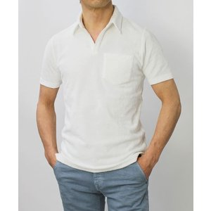 ラルディーニ / LARDINI / コットン パイル スキッパー ポロシャツ / セール / 返品・交換不可|luccicare|02