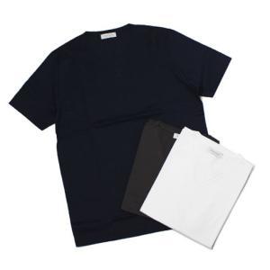 【国内正規品】S/S 新作 GRANSASSO ( グランサッソ ) / マーセライズ コットン シルケット加工 Vネック Tシャツ|luccicare