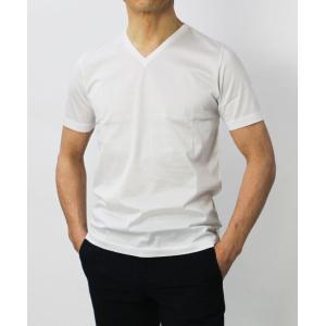 グランサッソ / GRANSASSO / マーセライズ コットン シルケット加工 Vネック Tシャツ / セール / 返品・交換不可|luccicare|02