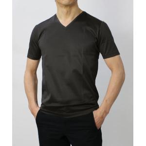 グランサッソ / GRANSASSO / マーセライズ コットン シルケット加工 Vネック Tシャツ / セール / 返品・交換不可|luccicare|03