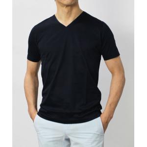 グランサッソ / GRANSASSO / マーセライズ コットン シルケット加工 Vネック Tシャツ / セール / 返品・交換不可|luccicare|04
