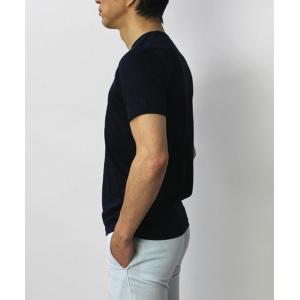 グランサッソ / GRANSASSO / マーセライズ コットン シルケット加工 Vネック Tシャツ / セール / 返品・交換不可|luccicare|05