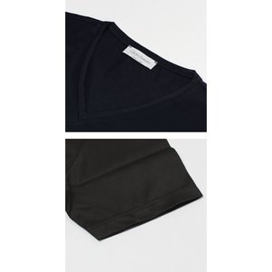 グランサッソ / GRANSASSO / マーセライズ コットン シルケット加工 Vネック Tシャツ / セール / 返品・交換不可|luccicare|07