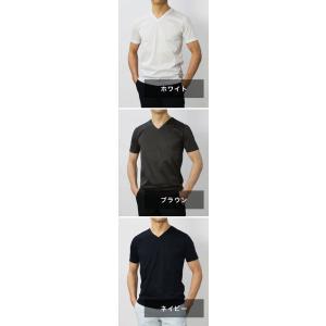 グランサッソ / GRANSASSO / マーセライズ コットン シルケット加工 Vネック Tシャツ / セール / 返品・交換不可|luccicare|09