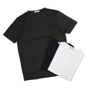【国内正規品】S/S 新作 GRANSASSO ( グランサッソ ) / マーセライズ コットン シルケット加工 クルーネック Tシャツ|luccicare