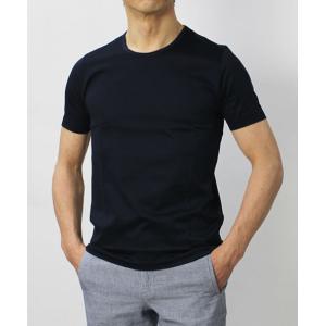 グランサッソ / GRANSASSO / マーセライズ コットン シルケット加工 クルーネック Tシャツ / セール / 返品・交換不可|luccicare|04