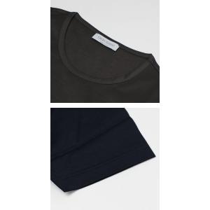 グランサッソ / GRANSASSO / マーセライズ コットン シルケット加工 クルーネック Tシャツ / セール / 返品・交換不可|luccicare|07
