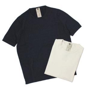 アッカ ノーヴェチンクエトレ / H953 / コットン クルーネック ジャカードニット Tシャツ / セール / 返品・交換不可|luccicare