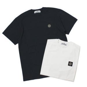 ストーン アイランド / STONE ISLAND / コットン クルーネック 半袖 Tシャツ|luccicare