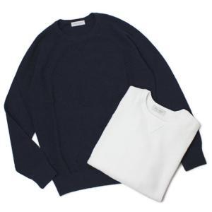 【国内正規品】S/S 新作 GRANSASSO ( グランサッソ ) / 12G パイル ガゼット付き ロングスリープ ニット Tシャツ|luccicare
