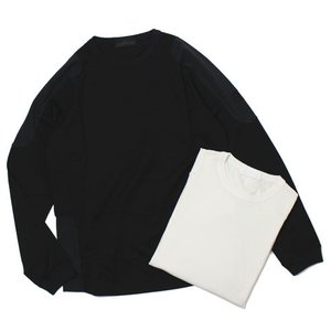 ストーン アイランド / STONE ISLAND / コットンストレッチ 切り替え ロングスリーブ Tシャツ|luccicare