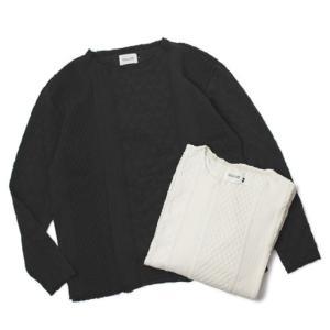 新作 CAL O LINE ( キャルオーライン )  / コットン カットオフ ケーブル ロングスリーブ Tシャツ|luccicare