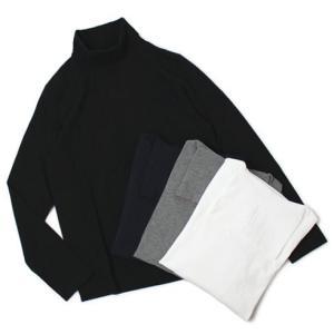 チルコロ 1901 / CIRCOLO 1901 / コットン 天竺ニット タートルネック ロングスリーブ Tシャツ|luccicare