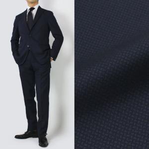 BOGLIOLI ( ボリオリ ) / K.JACKET / 小紋織 ウール コットン 3B段返り スーツ【ネイビー】【送料無料】|luccicare