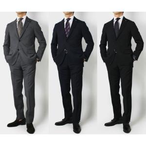 ラルディーニ / LARDINI / ウール ナチュラルストレッチ 3釦段返り スーツ / セール / 返品・交換不可|luccicare