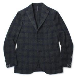 モンテドーロ / MONTEDORO / ウール モヘヤ フラノ 2B シングル ジャケット|luccicare