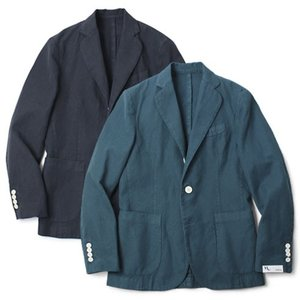 DOPPIA A ( ドッピア アー ) / コットン リネン 2B2パッチ シングル ジャケット【ターコイズ/ネイビー】【送料無料】|luccicare