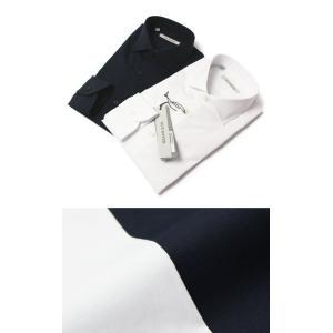 GUY ROVER ( ギローバー ) / コットン ストレッチ ブロード セミワイド ドレス シャツ【ホワイト/ネイビー】【送料無料】|luccicare