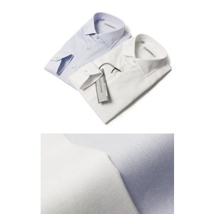 GUY ROVER ( ギローバー ) / コットン オックス セミワイド ドレス シャツ【ホワイト/サックス】【送料無料】|luccicare