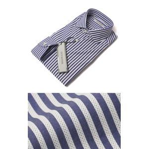 ギローバー / GUY ROVER / コットン メッシュ ロンドン ストライプ セミワイド ドレス シャツ / セール / 返品・交換不可|luccicare