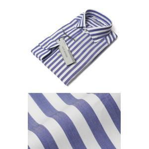 GUY ROVER ( ギローバー ) / コットン ロンドン ストライプ セミワイド ドレス シャツ【ブルー】【送料無料】|luccicare