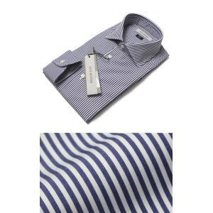 ギローバー / GUY ROVER / 120/2 コットン ロンドンストライプ セミワイドカラー ドレス シャツ / セール / 返品・交換不可|luccicare