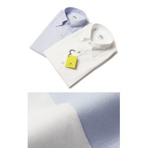 GIANNETTO ( ジャンネット ) / VINCI FIT / コットン オックス ボタンダウン シャツ【ホワイト/サックス】【送料無料】|luccicare