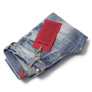 レッドカード / RED CARD / Rhythm / Slim Tapered / ウォッシュド ダメージ デニム パンツ / 返品・交換可能|luccicare