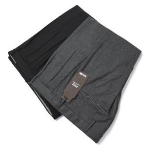 PT01 ( PTゼロウーノ ) / BLACK LOUNGE / SKINNY FIT / ウール ストレッチ ジャカード ツープリーツ パンツ【COKFVIZ10】【グレー/チャコール】|luccicare