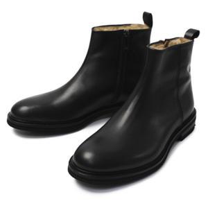 カメルレンゴ / CAMERLENGO / レザー プレーントゥ サイドZIP ムートン ブーツ / セール / 返品・交換不可|luccicare