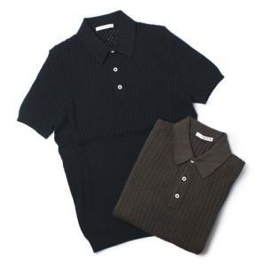 チルコロ 1901 / CIRCOLO 1901 / コットン アイレット編み ニット ポロシャツ|luccicare