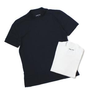 スリードッツ / three dots / Sanded jersey コットン モックネック Tシャツ / セール / 返品・交換不可|luccicare