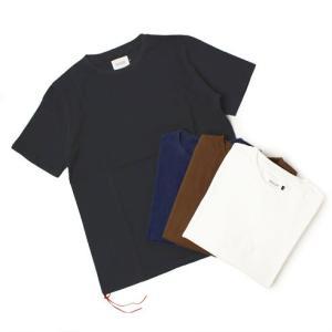 CAL O LINE ( キャルオーライン )  / コットン クルーネック Tシャツ【ホワイト/ブラウン/ネイビー/ブラック】【送料無料】|luccicare