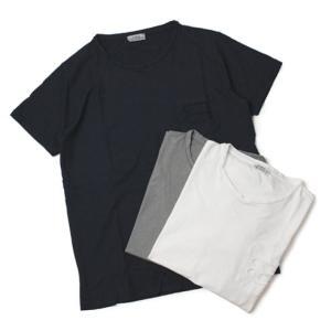 ORIGINAL VINTAGE STYLE ( オリジナル ヴィンテージ スタイル ) / コットン クルーネック ポケット Tシャツ【ホワイト/グレー/ネイ|luccicare