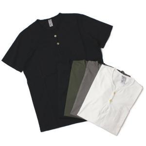 ORIGINAL VINTAGE STYLE ( オリジナル ヴィンテージ スタイル ) / コットン ヘンリーネック Tシャツ【ホワイト/グレー/カーキ/ネイビー/ダークネイビー】|luccicare