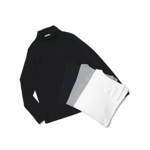 CIRCOLO 1901 ( チルコロ 1901 ) / コットン 天竺ニット タートルネック ロングスリーブ Tシャツ【ホワイト/グレー/ネイビー/ブラック】|luccicare